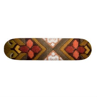 Vintage embroidery skate deck