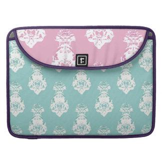 Vintage emerald and pink background MacBook pro sleeve