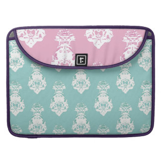 Vintage emerald and pink background sleeve for MacBook pro