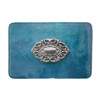 Vintage emerald background bath mat