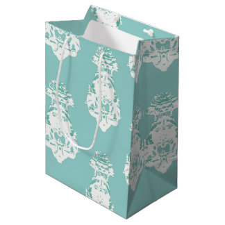 Vintage emerald background medium gift bag