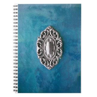 Vintage emerald background notebook