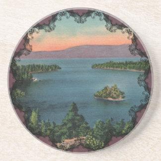 Vintage Emerald Bay Lake Tahoe Coaster