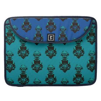 Vintage emerald/blue background sleeve for MacBook pro