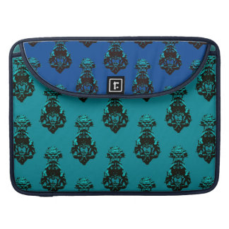 Vintage emerald/blue background sleeve for MacBooks