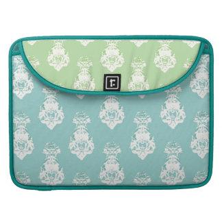 Vintage emerald/green background sleeve for MacBook pro