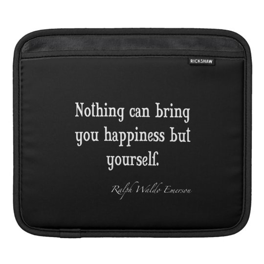 Vintage Emerson Happiness Inspirational Quote Sleeves For iPads