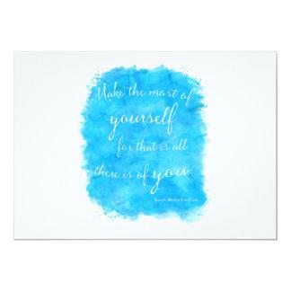 Vintage Emerson Inspirational Courage Quote 13 Cm X 18 Cm Invitation Card