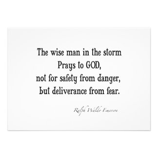 Vintage Emerson Inspirational Courage Quote Personalized Invitation