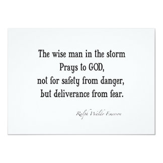 Vintage Emerson Inspirational Courage Quote 4.5x6.25 Paper Invitation Card