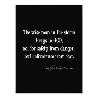 Vintage Emerson Inspirational Courage Quote Photo Print