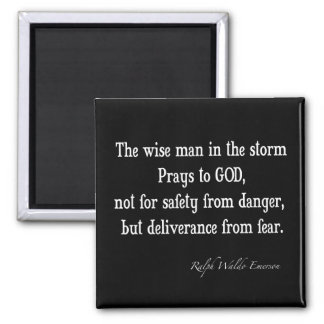 Vintage Emerson Inspirational Courage Quote Square Magnet