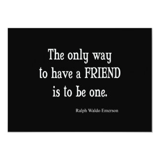 Vintage Emerson Inspirational Friendship Quote 11 Cm X 16 Cm Invitation Card
