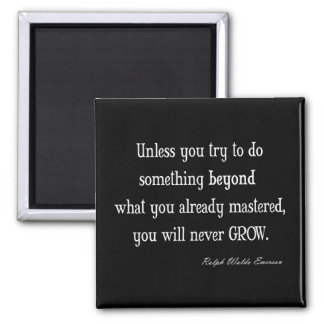 Vintage Emerson Inspirational Growth Mastery Quote Magnet