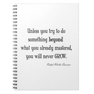 Vintage Emerson Inspirational Growth Mastery Quote Notebook