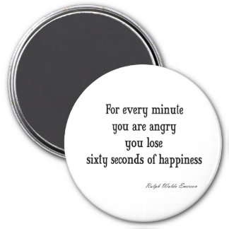 Vintage Emerson Inspirational Happiness Quote 7.5 Cm Round Magnet