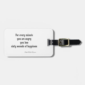 Vintage Emerson Inspirational Happiness Quote Luggage Tag
