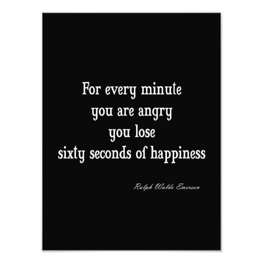 Vintage Emerson Inspirational Happiness Quote Photographic Print