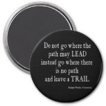 Vintage Emerson Inspirational Leadership Quote 7.5 Cm Round Magnet