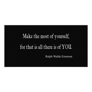 Vintage Emerson Inspirational Quote - Customizable Photo Greeting Card
