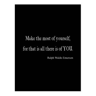 Vintage Emerson Inspirational Quote - Customizable Postcard