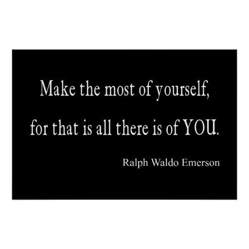 Vintage Emerson Inspirational Quote - Customizable Poster