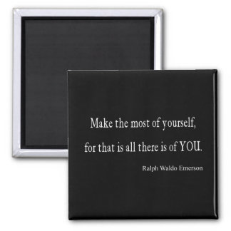 Vintage Emerson Inspirational Quote - Customizable Square Magnet