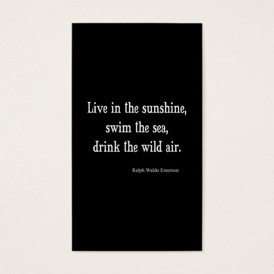 Vintage Emerson Live in Sunshine Quote Business Card