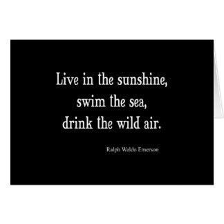 Vintage Emerson Live in Sunshine Quote Note Card