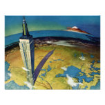 Vintage Empire State Building New York City Personalized Invitation
