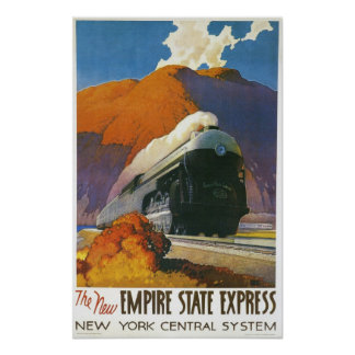 Vintage Empire State Express Locomotive Print