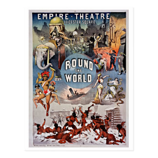 Vintage Empire Theatre Round the World Postcard