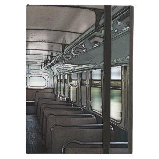 vintage empty bus iPad air case