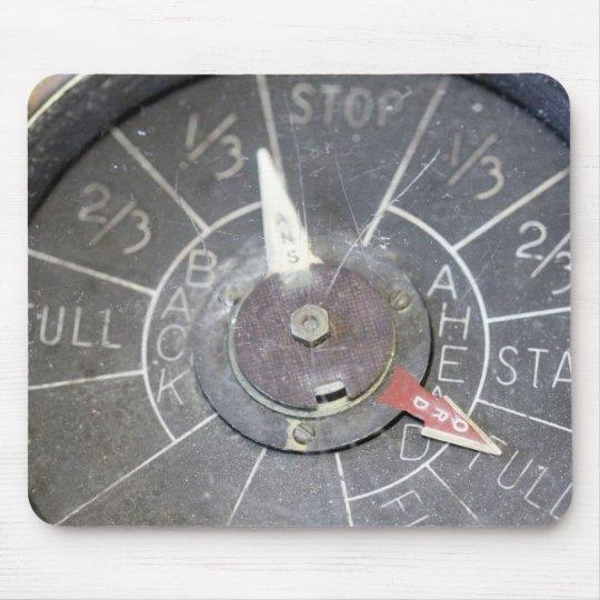 Vintage Engine Order Telegraph Indicator Dial Mouse Mat