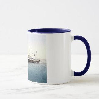 Vintage England Folkestone Harbour 1890's Mug