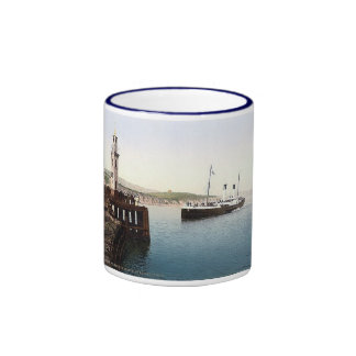 Vintage England Folkestone Harbour 1890's Ringer Mug