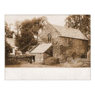 Vintage  England, Hawkeshead, the Hall pre-1904 Postcard