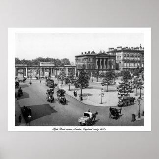 Vintage England, London Hyde Park corner Poster