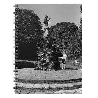 Vintage England London Peter Pan statue Kensington Spiral Note Book