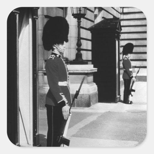 Vintage England London sentry at Buckingham Stickers