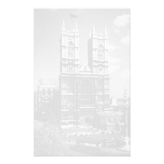 Vintage England London Westminster Abbey 1970 Customised Stationery
