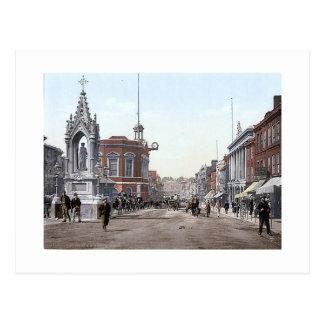 Vintage England  Maidstone High Street 1890's Postcard