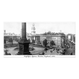 Vintage England, Trafalgar Square London Customised Photo Card