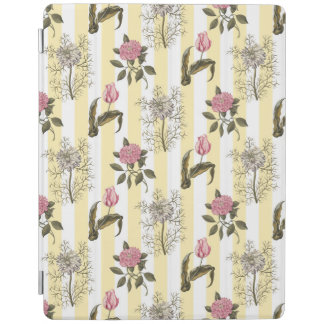 Vintage English Garden Floral Pattern iPad Cover