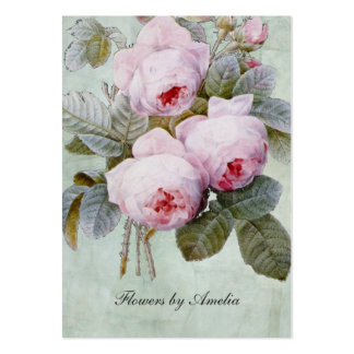 Vintage English Rose Garden Botanical Chubby Pack Of Chubby Business Cards