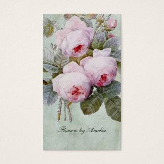 Vintage English Rose Garden Botanical Custom Business Card