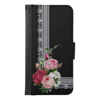 Vintage English Roses and Antique Lace Samsung Galaxy S6 Wallet Case