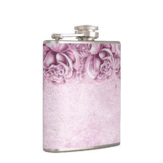 Vintage English Roses Lavender Violet for her Hip Flask
