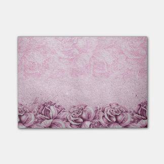 Vintage English Roses Lavender Violet Pink Floral Post-it® Notes