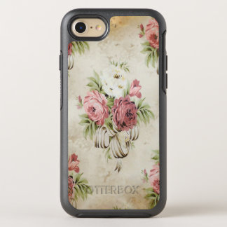 Vintage English Roses Pink Mauve Creme Ribbons OtterBox Symmetry iPhone 7 Case